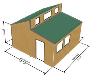 Tiny house 256 sq ft for Metal roof 1500 sq ft house