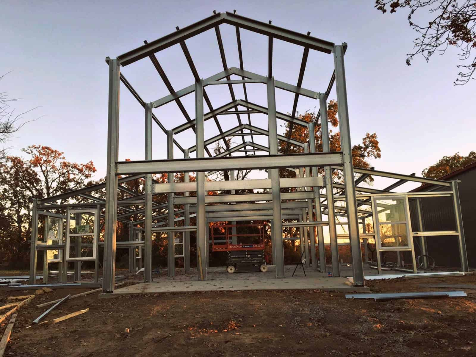 Examples Of Steel Frame Buildings : American barn style examples